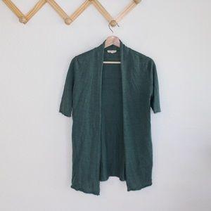 Eileen Fisher | 100% linen green sweater